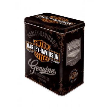 Scatola latta Harley Davidson - logo