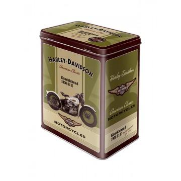 Scatola latta Harley Davidson - Knucklehead