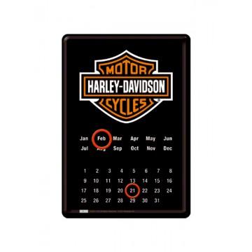 Calendario magnetico da tavolo Harley Davidson - logo