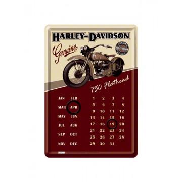 Calendario magnetico da tavolo Harley Davidson - Flathead