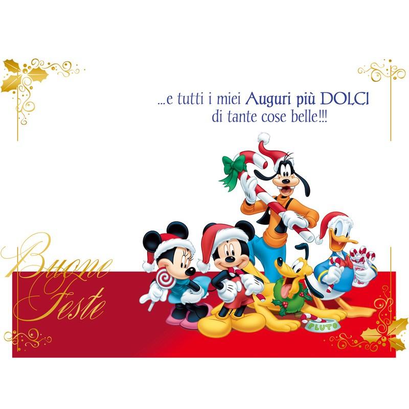 Auguri Di Natale Disney.Biglietto Natale Disney Minnie