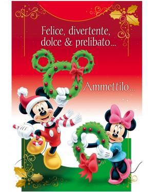 Auguri Di Natale Disney.Biglietto Natale Disney Minnie E Topolino
