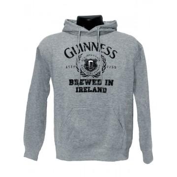 Felpa grigia logo L - Guinness