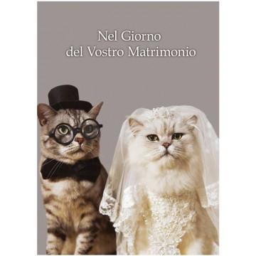 Biglietto matrimonio Classic - Mici