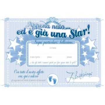 Diploma nascita - Boy