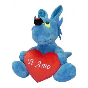 Peluche Lupo Alberto con cuore - Ti amo