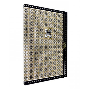 NOTEBOOK A4 GOLD BLACK MAKENOTES