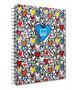 NOTEBOOK A4 SPIRALATO HEARTS MAKENOTES