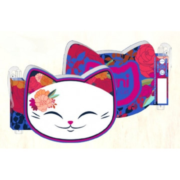 NOTEBOOK CON PENNA BLU RED LUCKY CAT