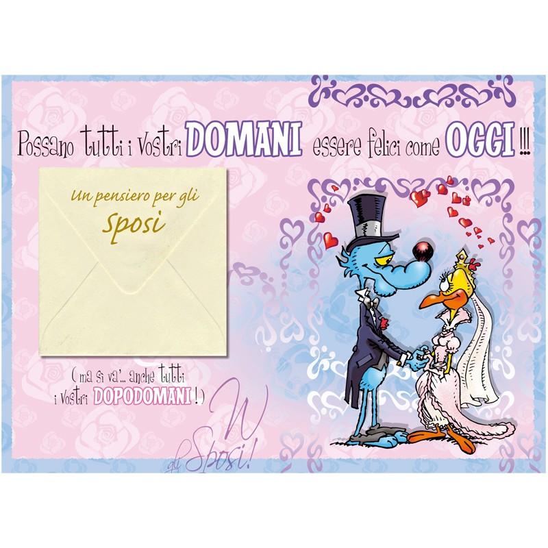 Biglietti Auguri Matrimonio Lupo Alberto : Biglietto lupo alberto matrimonio portasoldi quot come volano